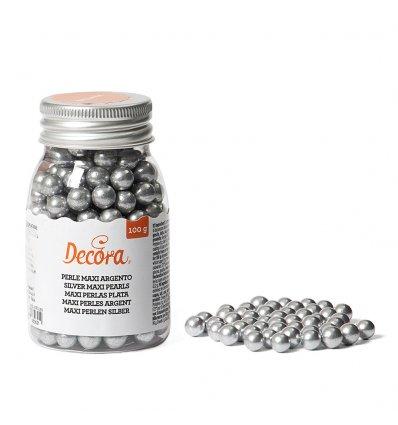Maxi Perle di Zucchero Argento 100 gr