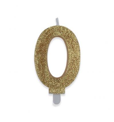 Candelina Sweety Oro Glitter 9 cm