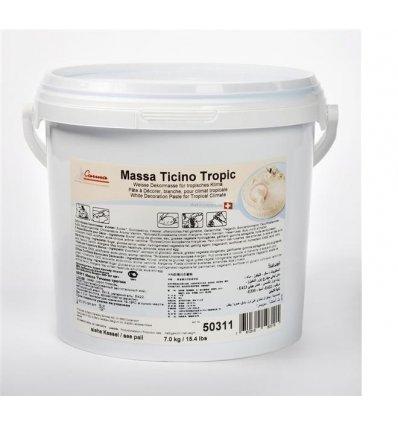 Pasta di zucchero massa Ticino Tropic bianca 7Kg