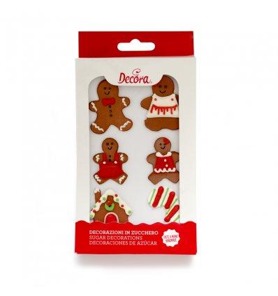 Decorazioni di Zucchero Omini Gingerbread 6 pz