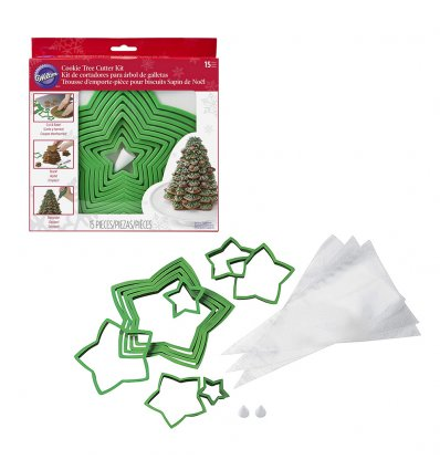 Set Tagliapasta in Plastica Albero di Natale