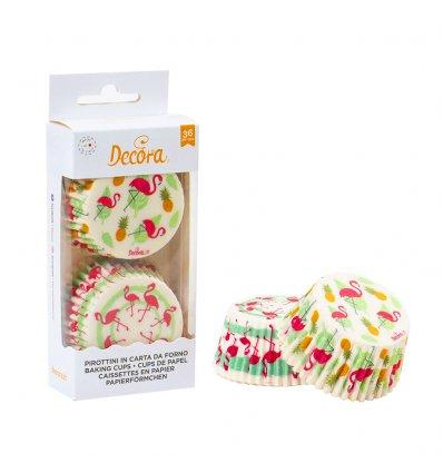 Pirottini cupcake fenicotteri