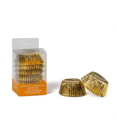 Pirottini cupcake oro-argento